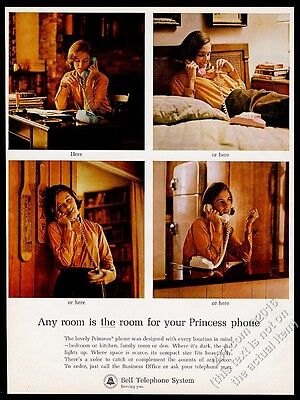 1964 Princess Phone 4 colors photo Bell Telephone System vintage print ad