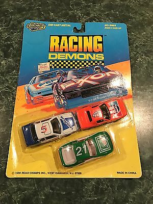 VINTAGE 1990 ROAD CHAMPS RACING DEMONS 3-PACK - Mountain Dew Pepsi GoodYear