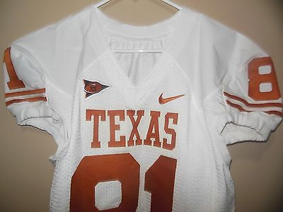 Texas Longhorns Game Used Football Jersey All Sewn