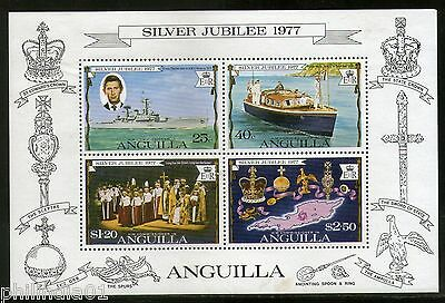 Anguilla 1977 Silver Juiblee Queen Elizabeth II Charles M/s Sc 274a MNH # 6094