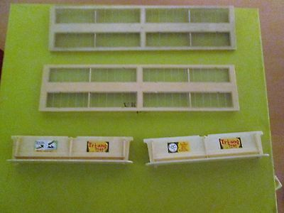 Tri-Ang Tt Gauge (Two) T26 Platform Canopy Units (Used Condition Unboxed Items)