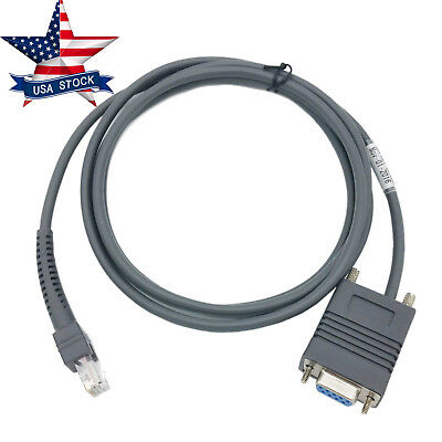 LS2208 RS232 Serial Cable CBA-R01-S07PAR for Symbol Barcode Scanner LS2208 6Feet