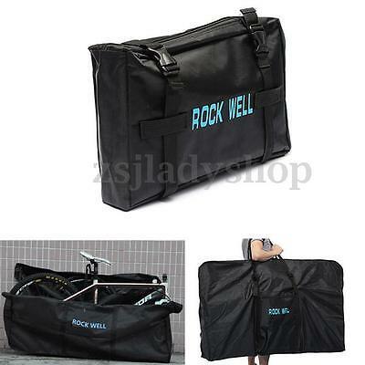 """MTB Road Bike Bicycle Cycling Folding Carrier Bag Carry Pouch Case Black 26"""""""