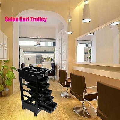Rolling Barber Salon Trolley Cart Hair Styling Tools Storage Hair Station H5B8