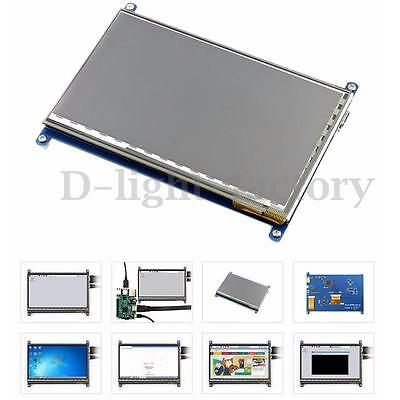 NEW 7'' HDMI 1024x600 Capacitive Touch Screen LCD Display For Raspberry Pi 2 3