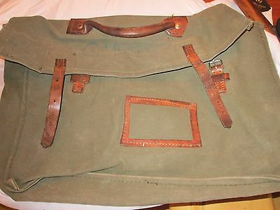 Ww2 Army Officers Canvas And Leather Breif Case