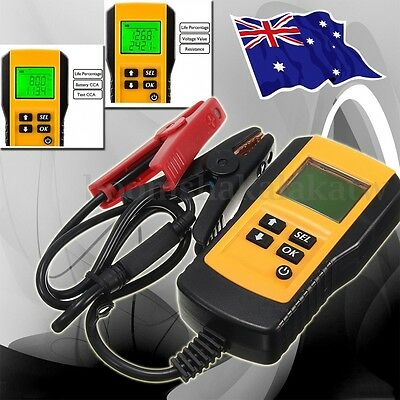 12V Digital LCD Car Battery Tester Analyser Load/Conductance Tester Flooded AGM