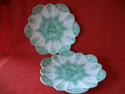 2 Vintage Wileman The Foley China Rd 164516/ 6234 Floral Daisy Shape Cake Plate