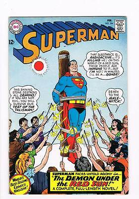 Superman # 184 The Demon Under the Red Sun ! grade 7.5 scarce book!