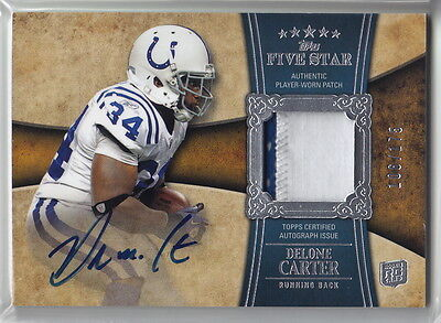 2011 Topps Five Star #162 Delone Carter JSY AU #106/175 RC Rookie