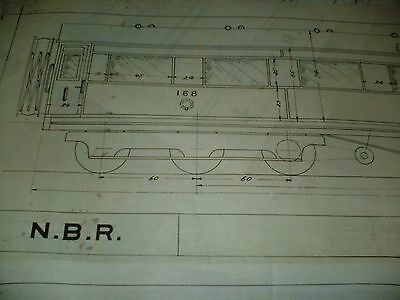 North British Railway Dining Carriage 12 Wheel Qty One Drawing Edwards Bros