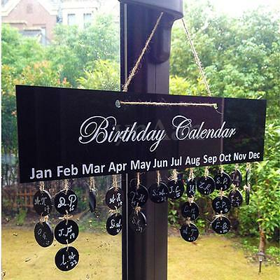 Birthday Calendar Board Special Date Occasion Reminder Friend Family Sign Plaque