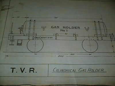TV Railway Cylindrical Gas Holder Qty One Drawing Edwards Bros