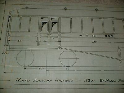 North Eastern Railway Passenger Brake Van Qty One Drawing Edwards Bros