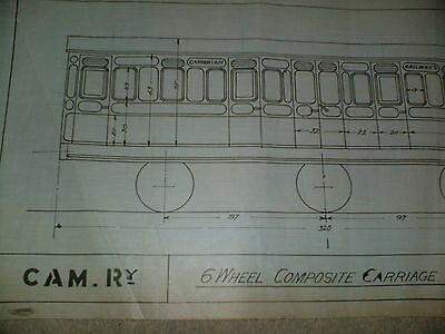 Cambrian Railway 6 Wheel Composite Carriage Qty One Drawing Edwards Bros