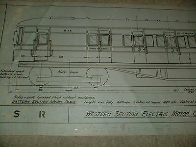 Southern Railway Western Section Electric Motor Ch Qty One Drawing Edwards Bros