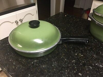 "Club Aluminum Green 10 "" Skillet With Lid"