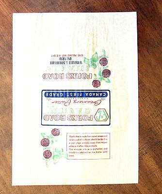 Forks Road Creamery Butter Wrapper Wainfleet & Stoufville Ontario gmu1