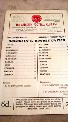 Aberdeen v Dundee United 1970/71 Scottish Cup Replay