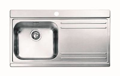 Clearwater Mirage 1.0 Bowl Right Hand Drainer Kitchen Sink  Inc Waste Kit