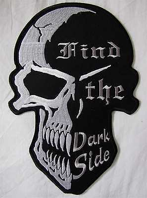 Rare Large Mind The Dark Side Bike Motorcycle Biker Embroidered Sew Badge Patch