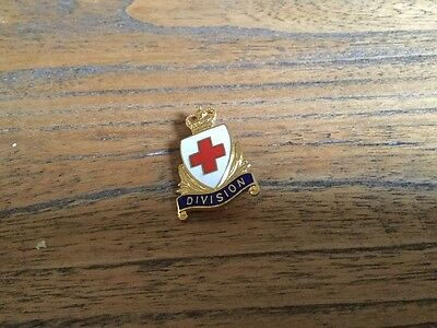 Vintage Red Cross Pin Badge