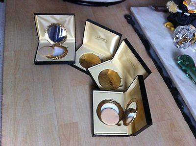 Vintage Boxed Unused Stratton Gold Tone Ladies Vanity Compact - 4 Available