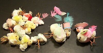 Pom Pom Chicks Unmarked-Vintage-Cute For Easter-2 Sizes