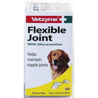 Vetzyme Flexible Joint With Glucosamine 30 Tabs chicken flavour for DOGS