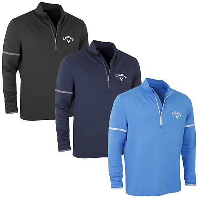 34% OFF RRP Callaway Golf Mens Mid Layer Embroidered Tour Logo Sweater Pullover