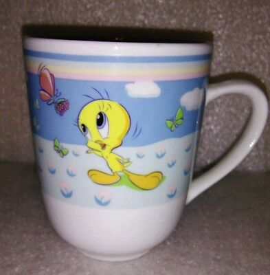 Looney Tunes Tweety & Butterflies Coffee Cup Mug Gibson