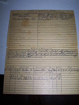 Elvis Presley Elvis' Employment Application For Precision Tool Co. 1953-1954