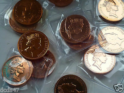 VARIOUS UNCIRCULATED 2p TWO PENCE COINS 1971 INC 1972 1983 1993 COIN HUNT