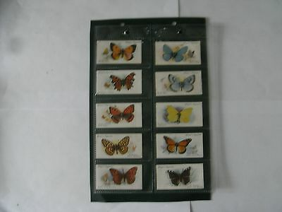 Full Set x 50 Players Cards + Sleeves. Butterflies.  1932.