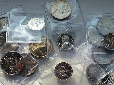 VARIOUS UNCIRCULATED 5p FIVE PENCE COINS 1971 TO 1992