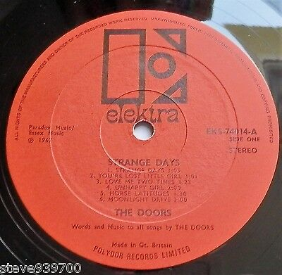 The Doors - Strange Days UK 1967 Elektra Stereo 1st Press with Inner