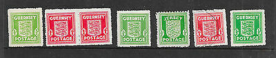 Guernsey War stamps selection MM used(3)