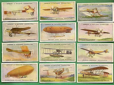 Set 25 Cigarette Cards -LAMBERT& BUTLER- AVIATION - 1915