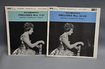Decca Ace of Clubs ACL 139 and 140 Lympany Rachmaninov Preludes  groove