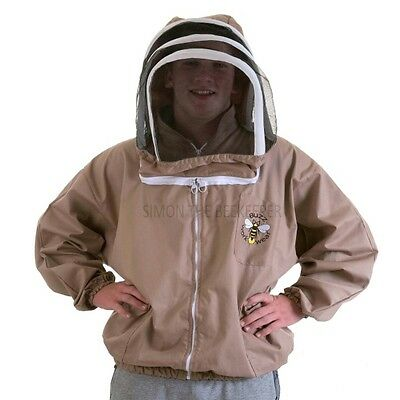 [DEUTSCH] BUZZ Beekeeping coloured BEE JACKET, cappuccino - ALL SIZES