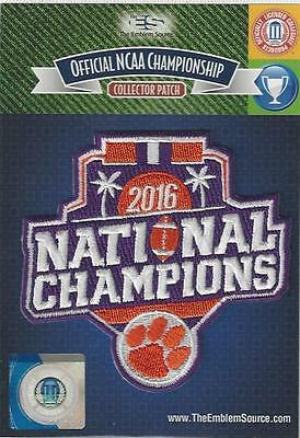 2016 Clemson Tigers NCAA Football National Champions Patch Official Champs Logo