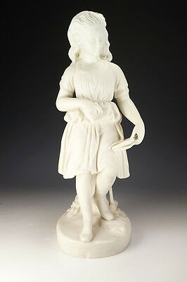Antique Copeland Parian - Young England's Sister - Croquet Playing Girl Figure