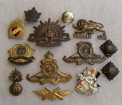 Mixed Lot Of British & Other Foreign Items 8 British Pcs, 1898 Pin; 13 Pieces