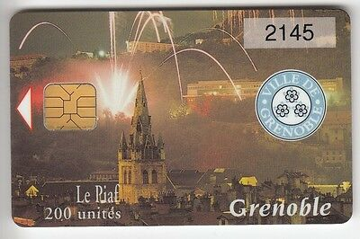 Piaf Parking Carte / Card .. 200U Grenoble Artifices 12/00 3.000Ex Chip/puce