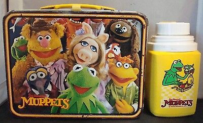 """The Muppets"" Lunchbox & Thermos W/ Kermit the Frog, Fozzie, Animal, & Ms.Piggy!"