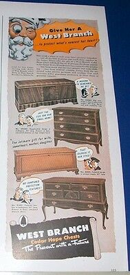 1942 West Branch Cedar Hope Chest Ad ~ 4 styles