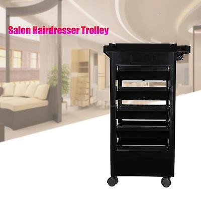Pro Salon Hairdresser Trolley Barber Storage Salon Rolling Cart Bowl Tool C4X3