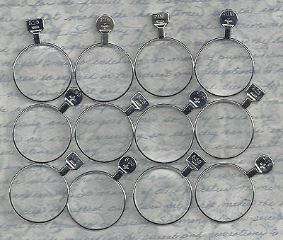 Lot of 12 Trial, Optical or Monocle type lenses jewelry steampunk