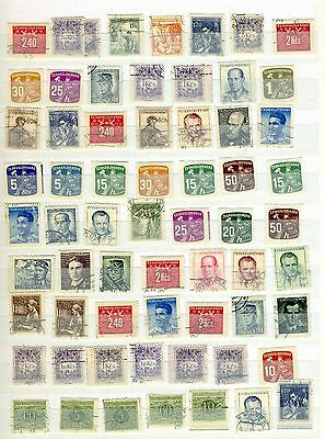 Czechoslavia small collection from the 1900's  good used selection + mint lot