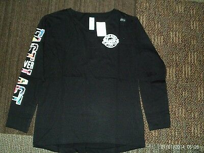 justice-- girls --size 10- black--long sleeve justice top nwt